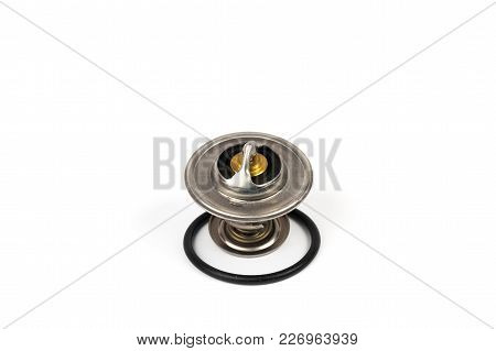 New Car Thermostat On White Image & Photo | Bigstock