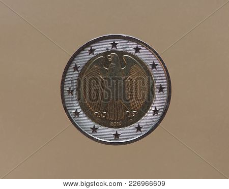 2 Euro Coin Money (eur), Currency Of Germany, European Union