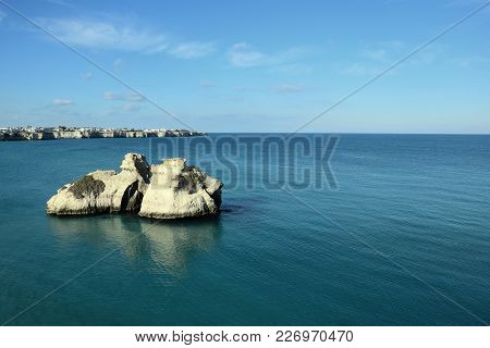 Beach in Salento on the Adriatic coast in the Apulia region, Italy