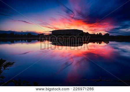 Photo Of The Sunset At Nuremberg Germany