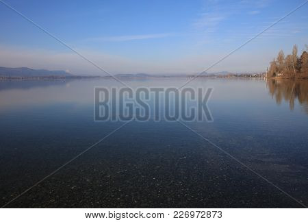The Beach Of Lake Constance At Radolfzell. Germany
