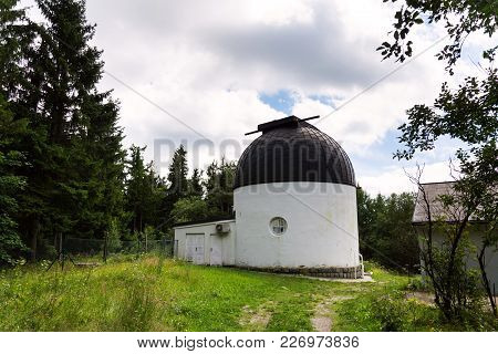 Klet Astronomical Observatory In Forest On Mount Klet, Czech Republic