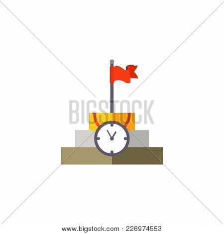 Time Management Planning And Control. Vector Flat Illustration