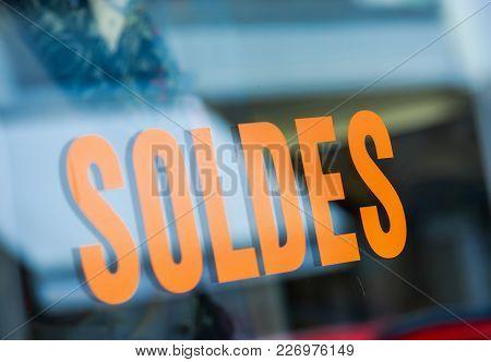 Closeup On Word Sales (