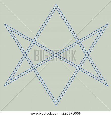 Vector Symbol For Esoteric Community: The Unicursal Hexagram Or Six-pointed Star Drawn Unicursally.