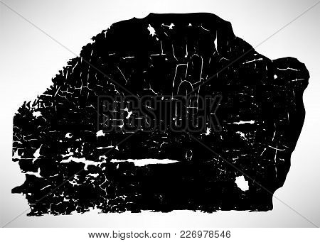 Black And White Grunge With Cracked Old Paint On A Wooden Surface, Vintage Texture, Modern Grungy Ba