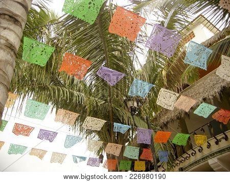 Flags Of Celebration In Puerto Vallarta Mexico