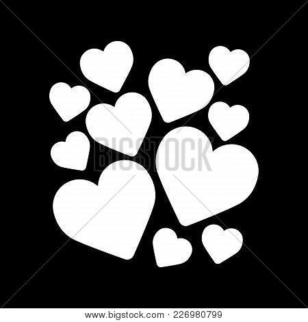 Heart Icon Vector Illustration. Valentine Day Concept. Simple Line Flat Icon. Solid Design. Eps 10