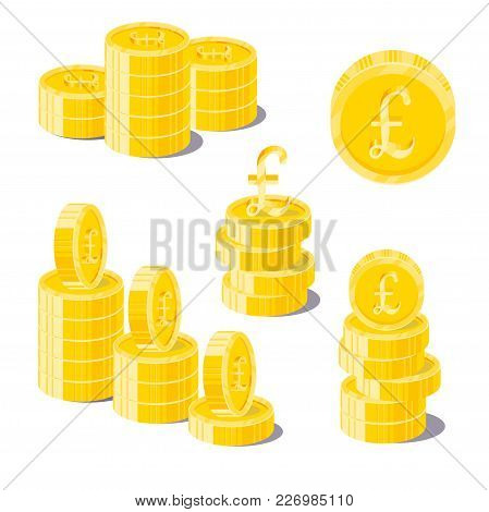 Pound Coin Heaps. Exceeding Income Goals, Calculating High Income And A Large Capital Base. Business