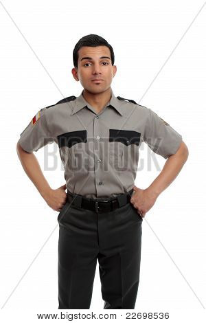 Prison Guard Or Policeman