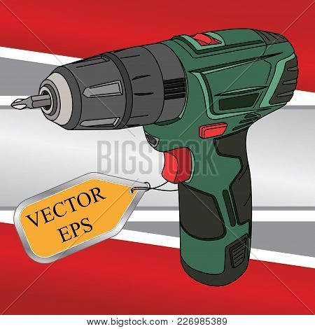 Screwdriver Drill. A Well-known Symbol Of The Assembly Or Repair