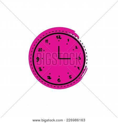Clock Doodle. Vector Illustration On A Background