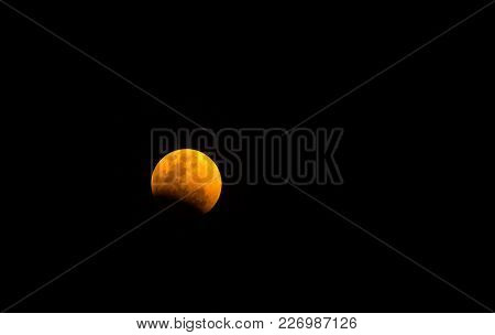 Super Full Moon In Night Sky,blue Moon Or Full Moon On Lunar Eclipse Bloody Moon Festival
