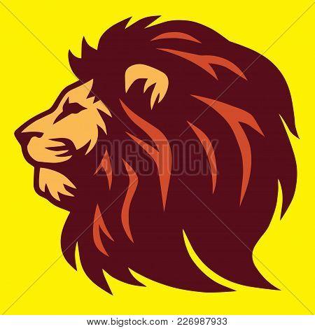 Lion Logo Template  Design Vector Illustration Icon