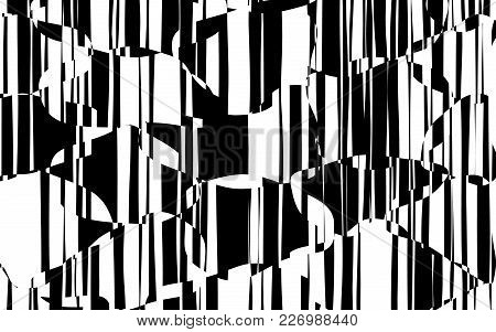 Random Chaotic Lines Abstract Geometric Pattern  Texture, Modern, Contemporary Art Illustration With
