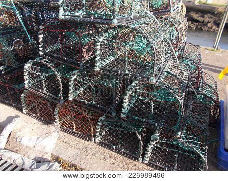 Lobster Pots Used To Catch Crabs And Lobsters For The Table Widely Used In The Fishing Industry