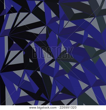 3d Futuristic Geometric Background, Blue Color Lines