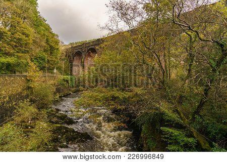 Pontrhydyfen Viaduct In Neath Port Talbot, West Glamorgan, Wales, Uk