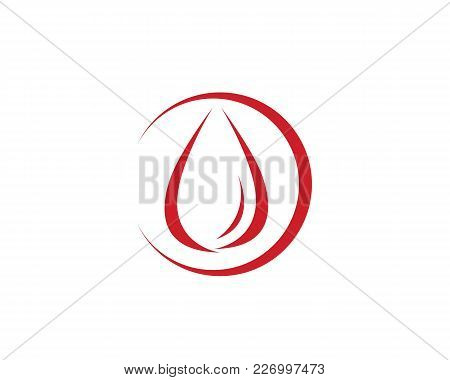 Blood Droop Red Logo And Symbols Template