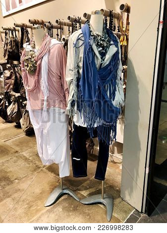 Rishon Le Zion, Israel- January 12, 2018: Inside The Clothing Store At Azrieli Department Store In R