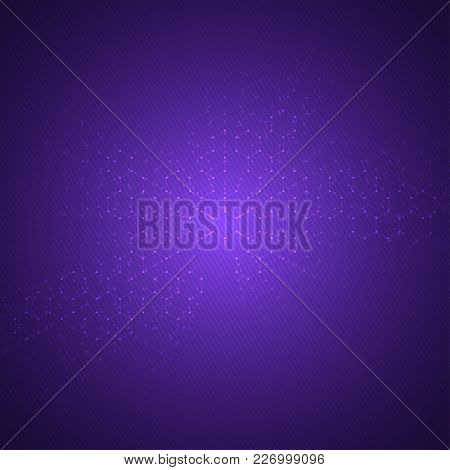 Geometric Abstract Background With Hexagons. Structure Molecule And Communication. Science, Technolo