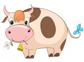 Cartoon Character Cow poster
