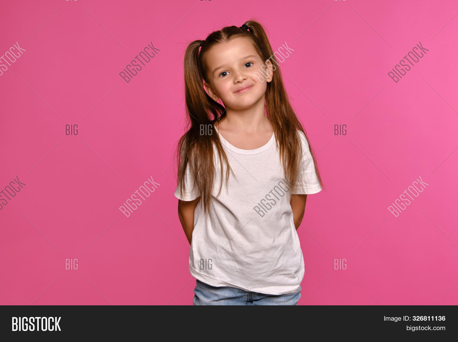 Admirable Little Girl Ponytails Image Photo Free Trial Bigstock Natural Hairstyles Runnerswayorg