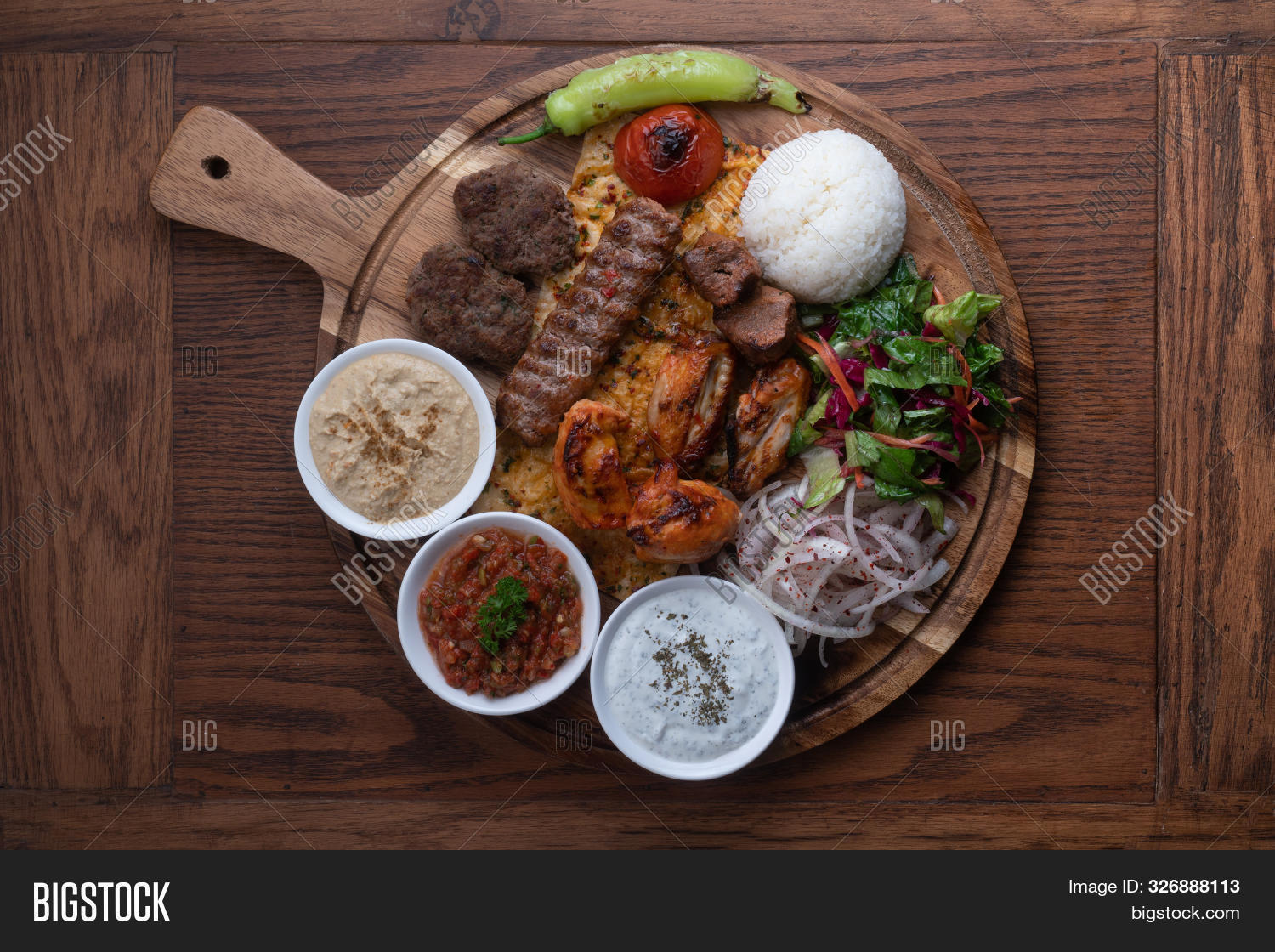 Mixed Turkish Kebab Image Photo Free Trial Bigstock
