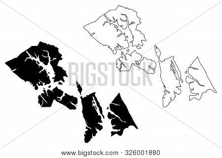 Hoonah-Angoon Census Area, Alaska (Boroughs and census areas in Alaska, United States of America,USA, U.S., US) map vector illustration, scribble sketch Hoonah Angoon map poster