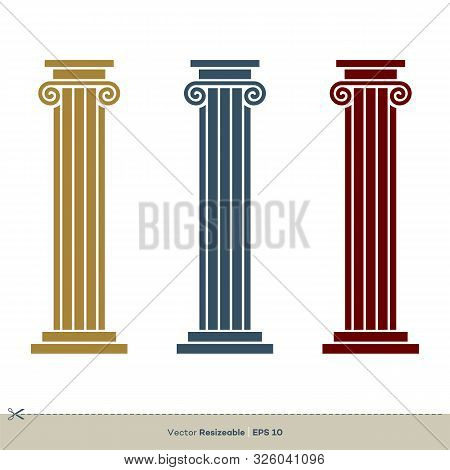Pillar Legal, Attorney, Law Office Vector Logo Template Illustration Design. Vector Eps 10.