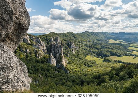 Limestone Rock Formation At Sulov Rocks (sulovske Skaly) In Slovakia