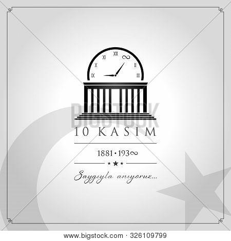 10 Kasim Vector Illustration. (10 November, Mustafa Kemal Ataturk Death Day Anniversary.)