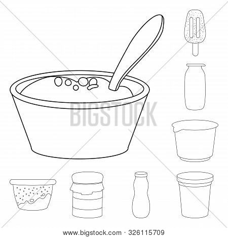 Vector Design Of Calcium And Food Icon. Collection Of Calcium And Product Stock Symbol For Web.