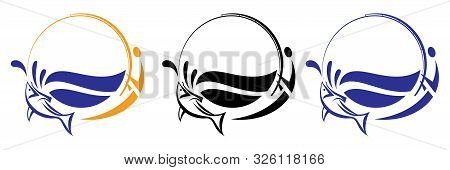 Collection Of Modern Logotype Suitable For Fishing Camps And Retailers Of Fishing Items