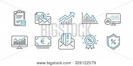 Set Of Finance Icons, Such As Euro Currency, Accounting Report, Credit Card, Accounting Checklist, S