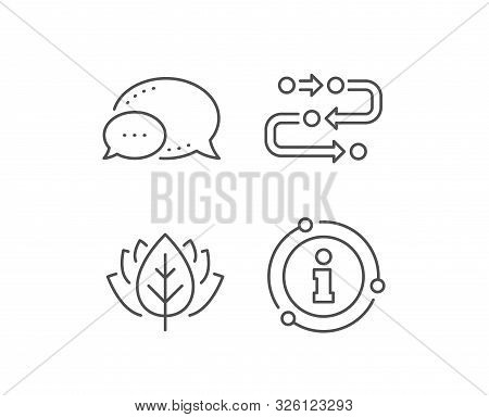 Methodology Line Icon. Chat Bubble, Info Sign Elements. Development Process Sign. Strategy Symbol. L