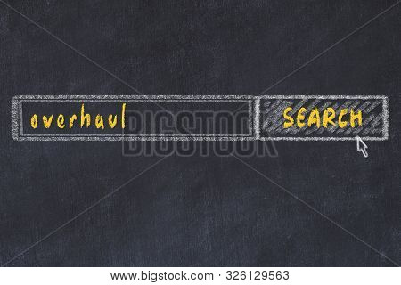 Chalkboard Drawing Of Search Browser Window And Inscription Overhaul.