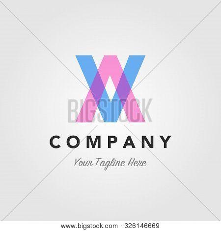 Av Letter A Letter V Initial Overlapping Overlap Logo Design Illustration