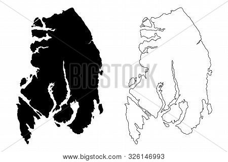 Ketchikan Gateway Borough, Alaska (Boroughs and census areas in Alaska, United States of America,USA, U.S., US) map vector illustration, scribble sketch Ketchikan Gateway map poster