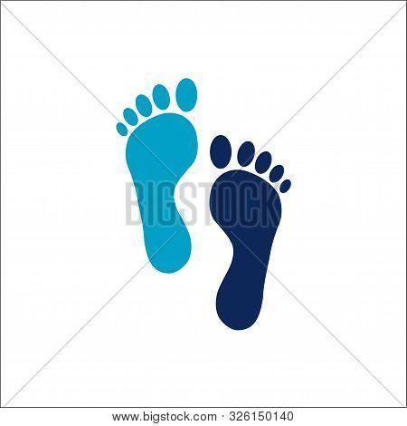 Human Footprint Icon Logo Vector Illustration,logo Footprint