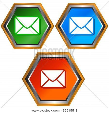 Four Mail Icons