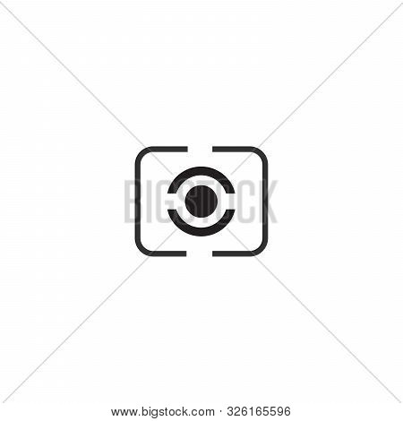 Digital Photography Camera Metering Mode Icon , Stock Vector Illustration Isolated On White Backgrou