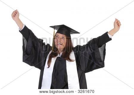 Happy Graduation A Young Woman