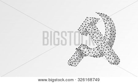 Hammer And Sickle. Ussr, Soviet Union Proletarian Solidarity Symbol, Communism Sign. Abstract, Digit