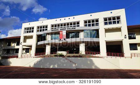 Singapore- 5 Oct, 2019: Main Building Of National Junior College In Singapore. National Junior Colle