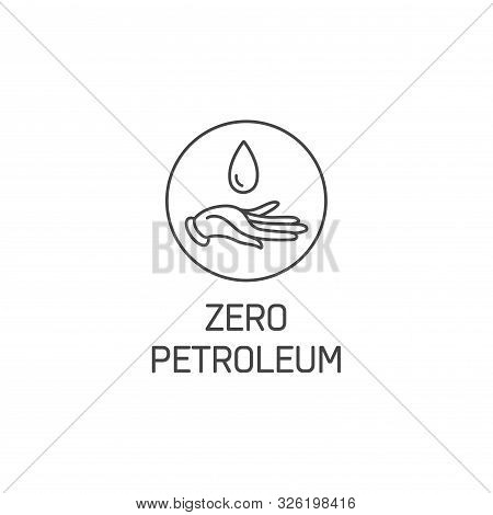 Vector Logo, Badge Or Icon For Natural And Organic Products. Eco Safe Sign Design. Zero Petroleum Si