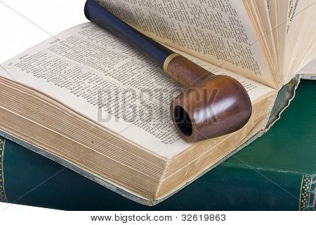 Old Books And Pipe