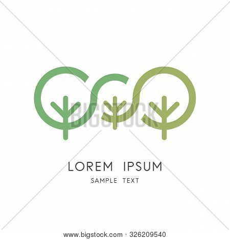 Green Tree Family Logo - Big Plants And Small Sprout Symbol. Heredity And Variability, Genetics And