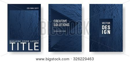 Advertising Banner Or Covers. Dark Blue And Black Waves Texture. Fluid Buzzing Wavy Noise Ripple Tex
