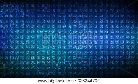 Binary Code Background. Digital Binary Data And Streaming Digital Code Background. Abstract Futurist